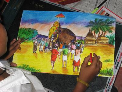 At the Drawing Competition | Cochin Blogger